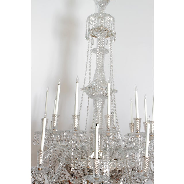Mid 19th Century A Pair of Large Scale Majestic 24-Light Cut-Crystal Chandeliers For Sale - Image 5 of 12