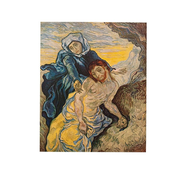 """1950s Van Gogh, First Edition Lithograph """"Pieta"""" (After Delacroix) For Sale"""