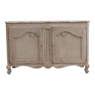 Rustic Style Distressed Gray Cabinet For Sale