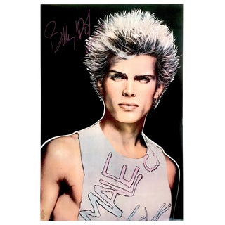"Richard Bernstein Vintage 1983 "" Billy Idol Rebel Yell "" Punk Rock Pop Art Poster For Sale"