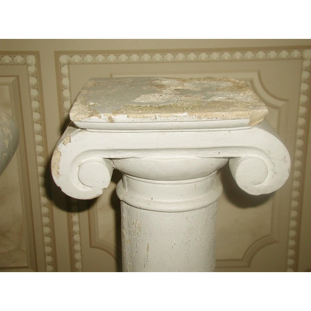 Neoclassical Architectural Plaster Column Table Bases - a Pair For Sale - Image 3 of 8