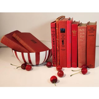 Vintage Red Library Books - Set of 9 Preview