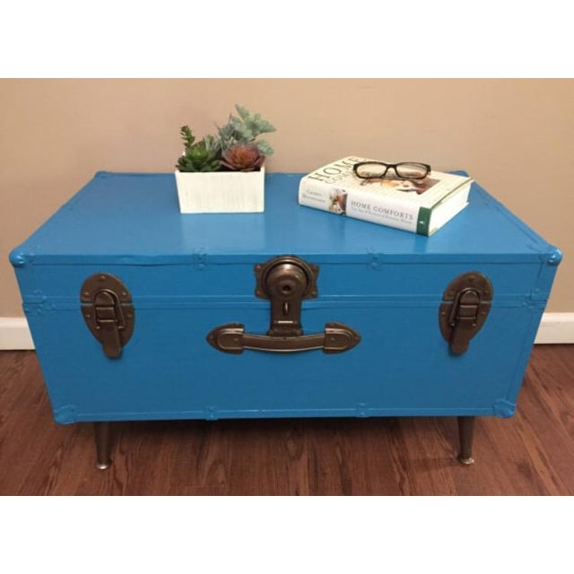 Blue Steamer Trunk Table - Image 4 of 6