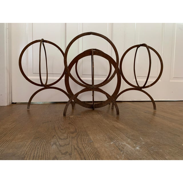 """Striking sculpture, can be indoors or outdoor, or in front of the fireplace as a unique screen. 36"""" wide 17.5"""" tall"""