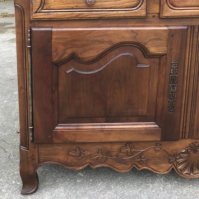 19th Century Country French Fruitwood Buffet a Deux Corps For Sale - Image 10 of 13