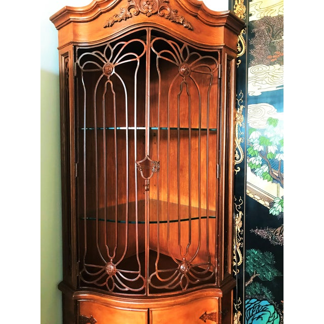 Late 20th Century Corner Cabinet With Iron Doors For Sale - Image 10 of 13