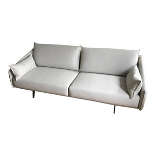 Mid-Century Modern Jon Gasca for Stua Costura Light Gray Linen Sofa