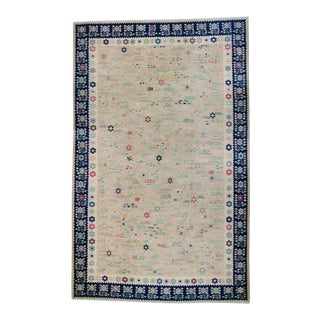 """1950s House of Séance Bessarabia Romanian Hand-Knotted Kilim Rug - 11'1"""" X 19' For Sale"""