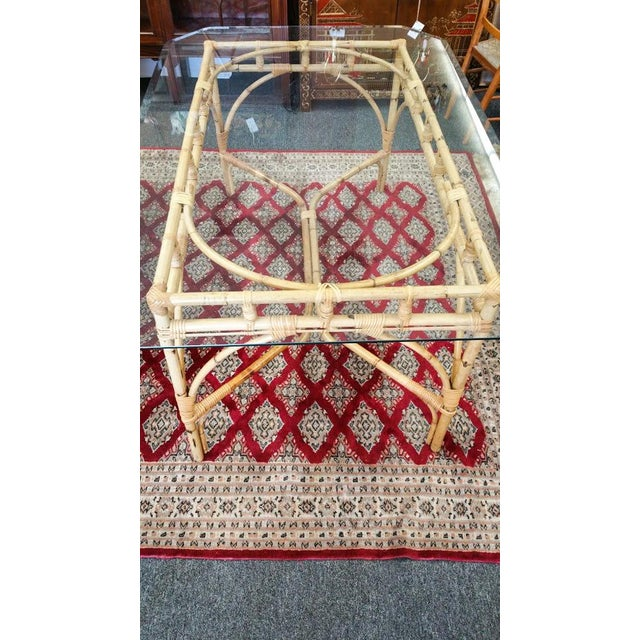 Rattan Chinese Chippendale Dining Table For Sale In Phoenix - Image 6 of 6