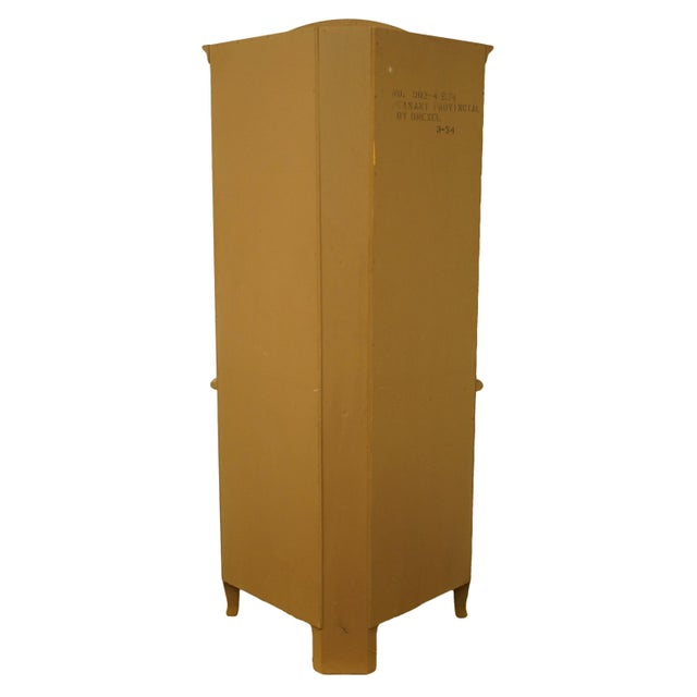 French Country 20th Century French Country Drexel Heritage Solid Maple Corner Cabinet For Sale - Image 3 of 8