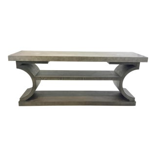 Lillian August for Hickory White Modern Taupe and Gray Kostas Console Table For Sale