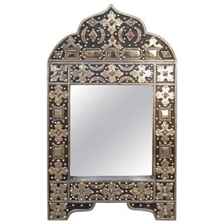 Kasbah Arched Moroccan Marrakech Metal Inlaid Mirror For Sale