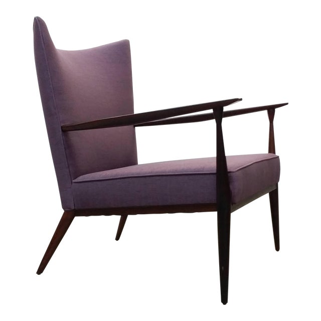 1950s Vintage Paul McCobb for Directional Fully Restored Lounge Chair For Sale