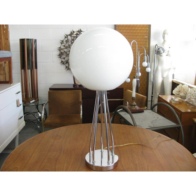 Mid-Century Modern Chrome Table Lamp - Image 11 of 11