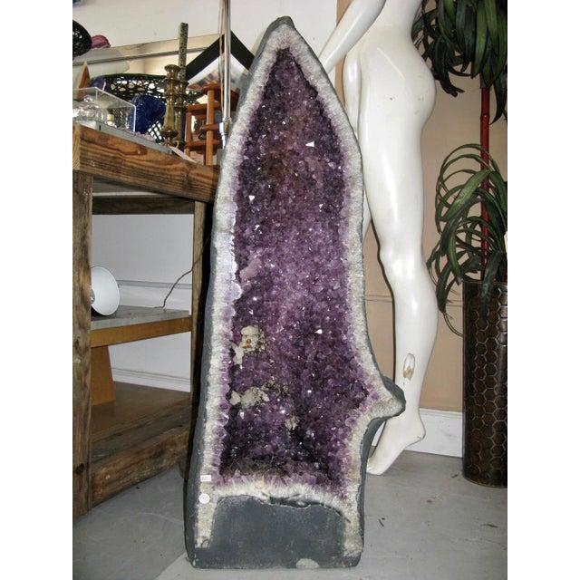 Amethyst Geode Large Crystal Cathedral Specimen - Image 9 of 9