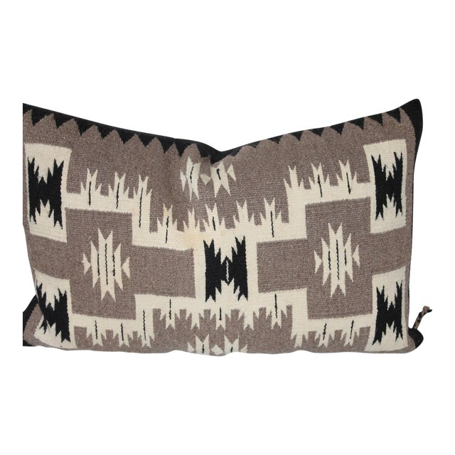 Navajo Two Grey Hills Indian Weaving Pillow For Sale