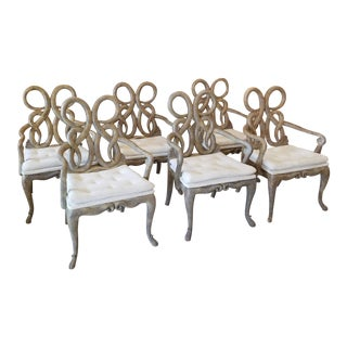 Six Snake Dinning Chairs by Maitland Smith For Sale