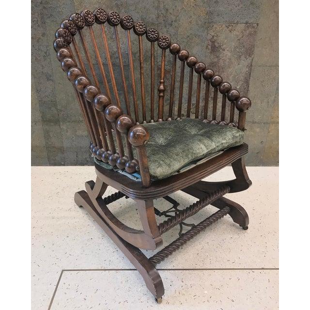 Brown Hunzinger Lollipop Platform Rocking Chair For Sale - Image 8 of 8