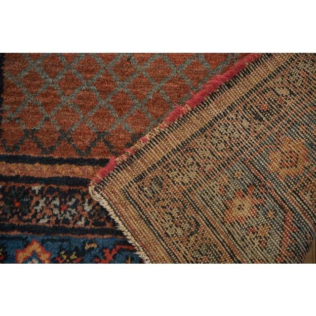 "Cotton Vintage Hamadan Rug Runner - 3'7"" x 6'10"" For Sale - Image 7 of 10"