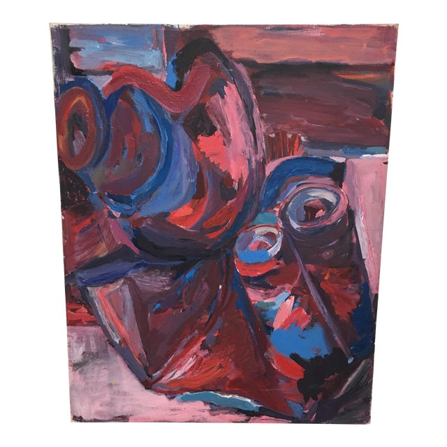 Original Abstract Oil Painting on Canvas - Image 1 of 6