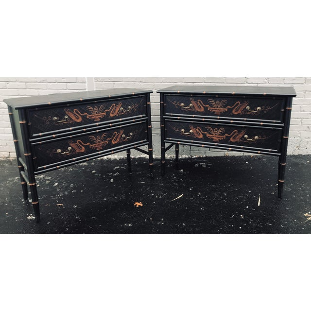 1990s Chinoiserie Side Chests - a Pair For Sale - Image 12 of 12