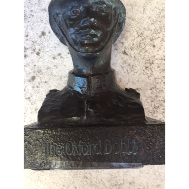 Mid-Century Oxford Bobby Bust For Sale In Raleigh - Image 6 of 10