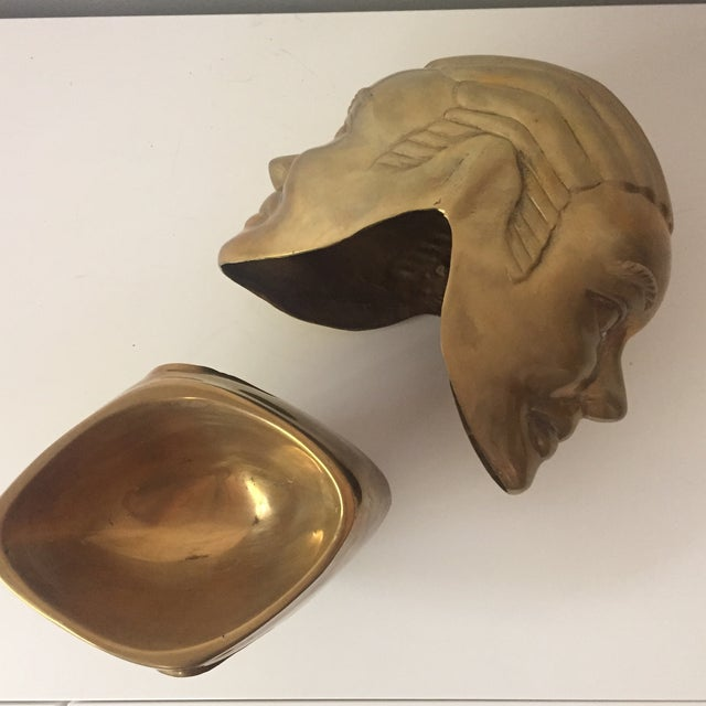 2 Faced Lidded Brass Figure - Image 6 of 11