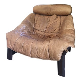 Sergio Rodrigues Leather & Rosewood Lounge Chair