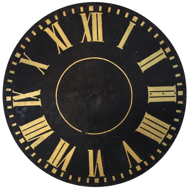 Monumental Tower Clock Face For Sale