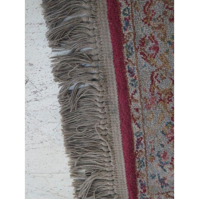 Traditional 1980s Karastan Red Kirman Area Rug - 4′4″ × 6′9″ For Sale - Image 3 of 13