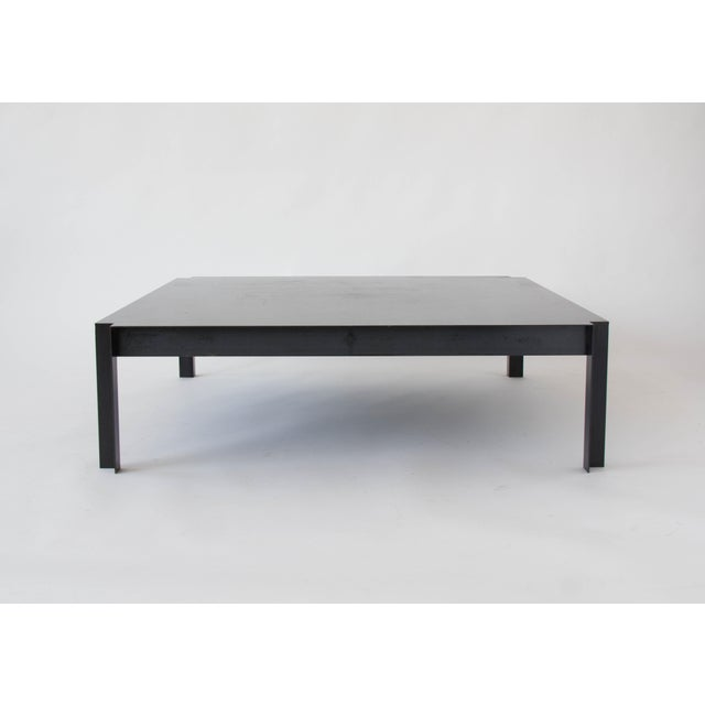 California-Designed Modernist Square Coffee Table - Image 2 of 8