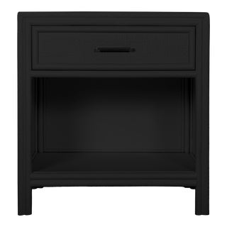 Bermuda One-Drawer Nightstand - Black For Sale