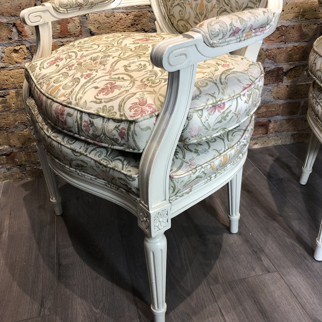 French 1930s Vintage French Style Upholstered Chairs- a Pair For Sale - Image 3 of 13