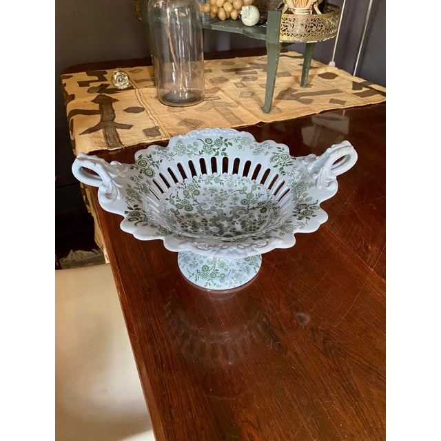 Mid 19th Century WR& Co William Ridgway 'Flosculous' French Pedestal Compote For Sale - Image 10 of 10