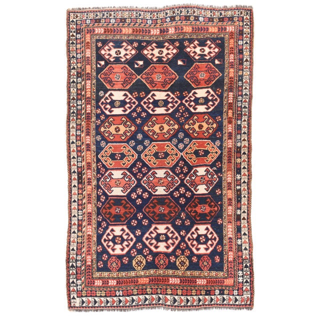 Antique Persian Qashqai Rug For Sale - Image 4 of 4
