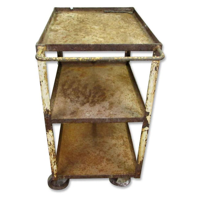 Industrial Industrial Rusted Metal Cart For Sale - Image 3 of 6