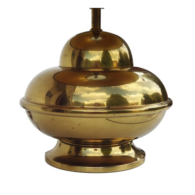 Petite Brass Chinoiserie Lamp For Sale - Image 5 of 8
