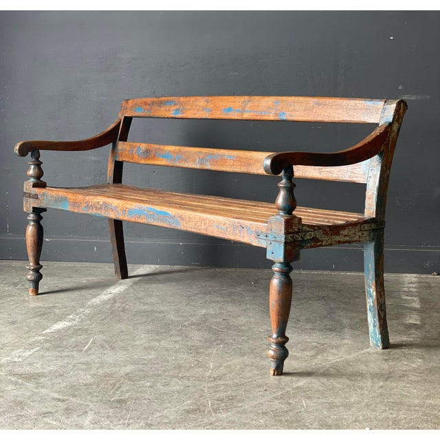 Primitive Wood Bench For Sale - Image 10 of 10