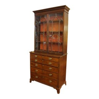 18th Century George III Bookcase Secretaire For Sale