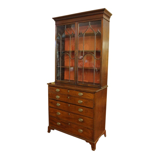 18th Century George III Bookcase Secretaire For Sale