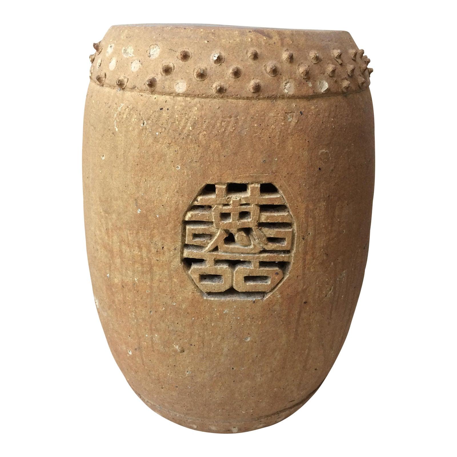 Chinese Terracotta Garden Stool | Chairish