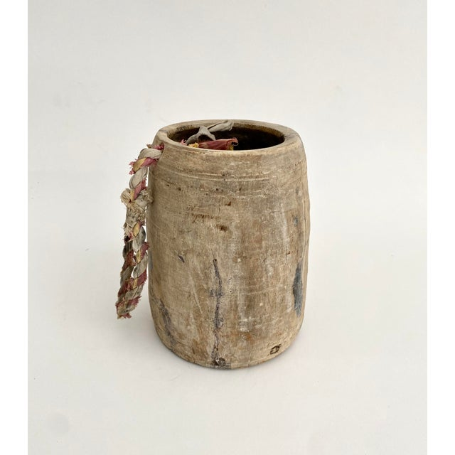 1950s Hanging Rustic Wood Honey Pot For Sale - Image 5 of 6