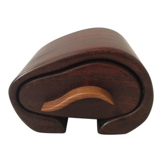 Artisinal Crafted Organic Wooden Box For Sale