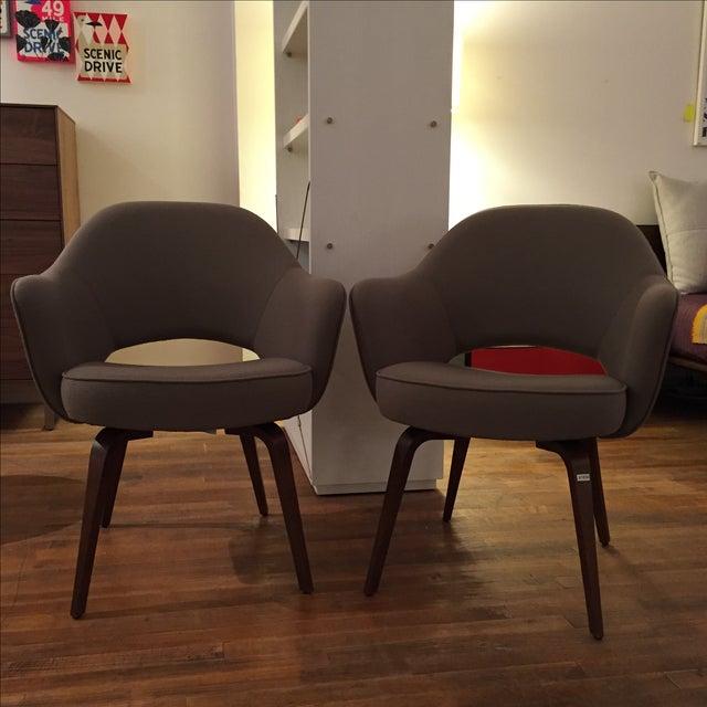 Knoll Saarinen Executive Armchairs - A Pair - Image 2 of 6