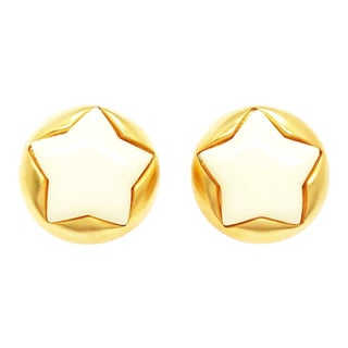 Puffy Star Earrings by Escada for a Fun Night Out For Sale