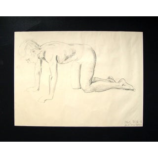 Charcoal Figural Study Drawing, 1950 Preview