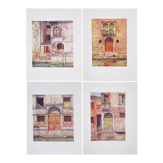 Original Windows & Doors of Venice Antique Lithographs - Set of 4