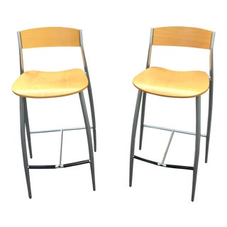 Design Within Reach Modern Baba Bar Stools - a Pair For Sale