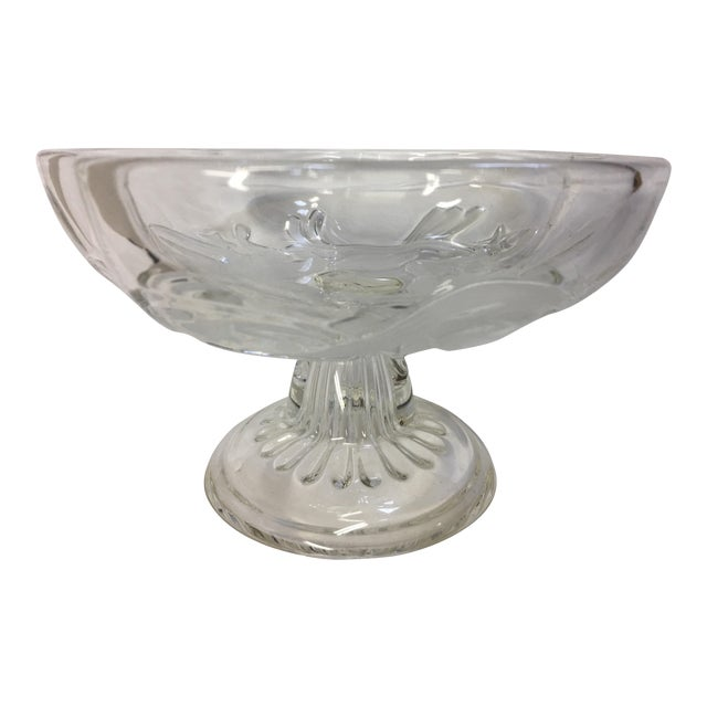 Mid-Century Frosted Cherubs Glass Dish For Sale