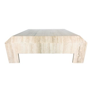 1970s Italian Travertine Coffee or Cocktail Table For Sale